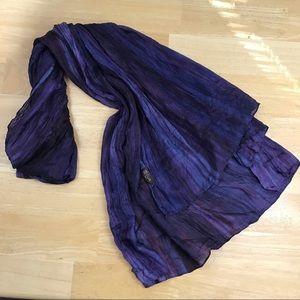 LUA Watercolor Variegated Purple Blue large scarf